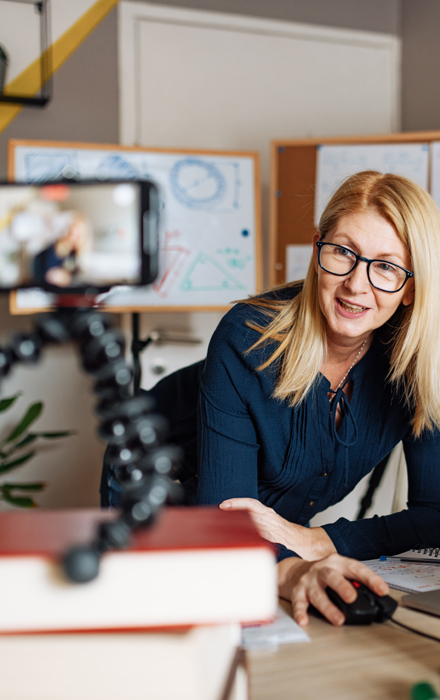 confident businesswoman leveraging the power of video