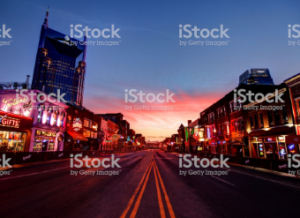 nashville street sunset